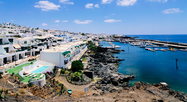 Puerto Calero, south of the island, is one of the tourist destinations of Lanzarote.